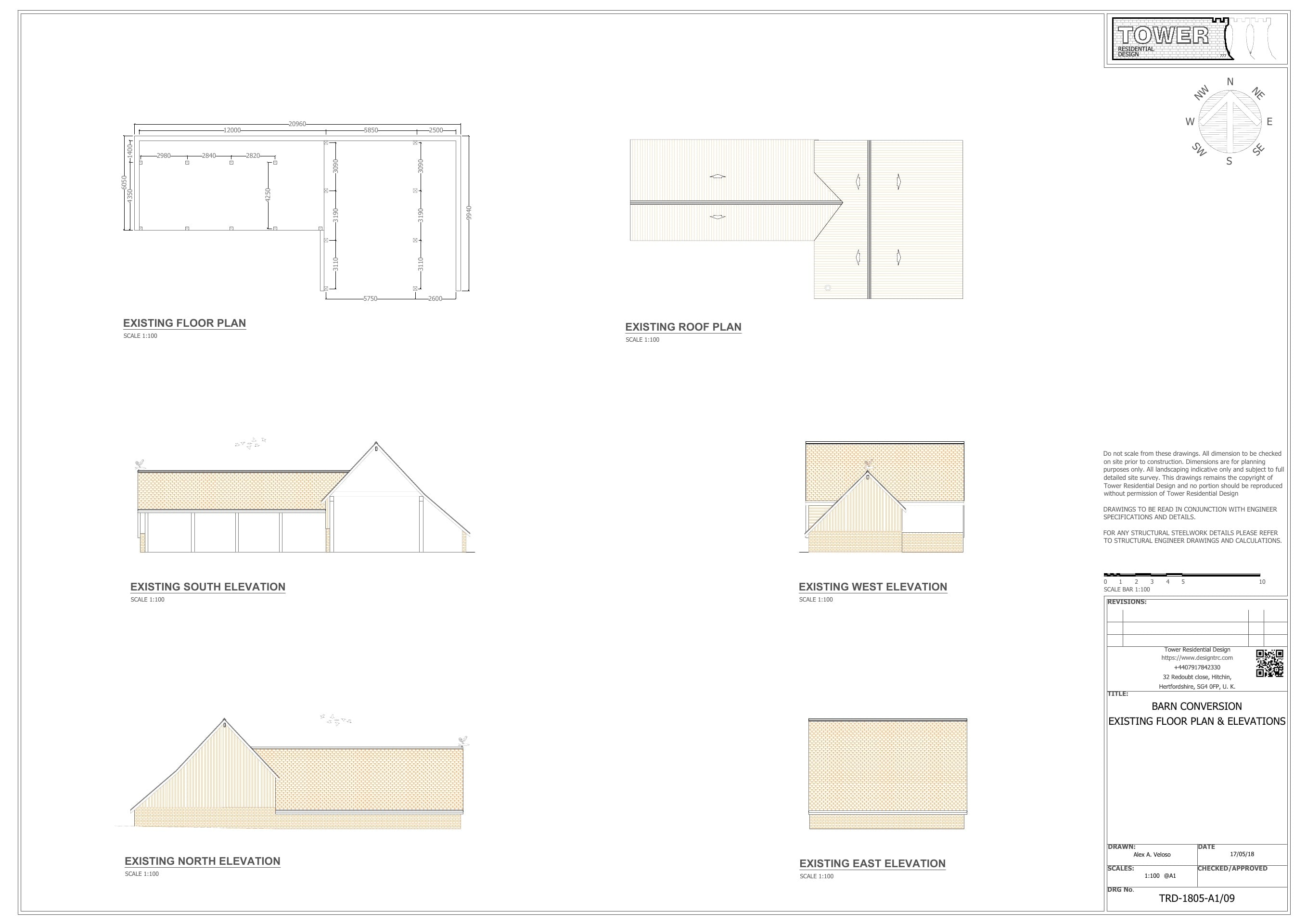 Building Regulation - Barn Conversion Floor Plan