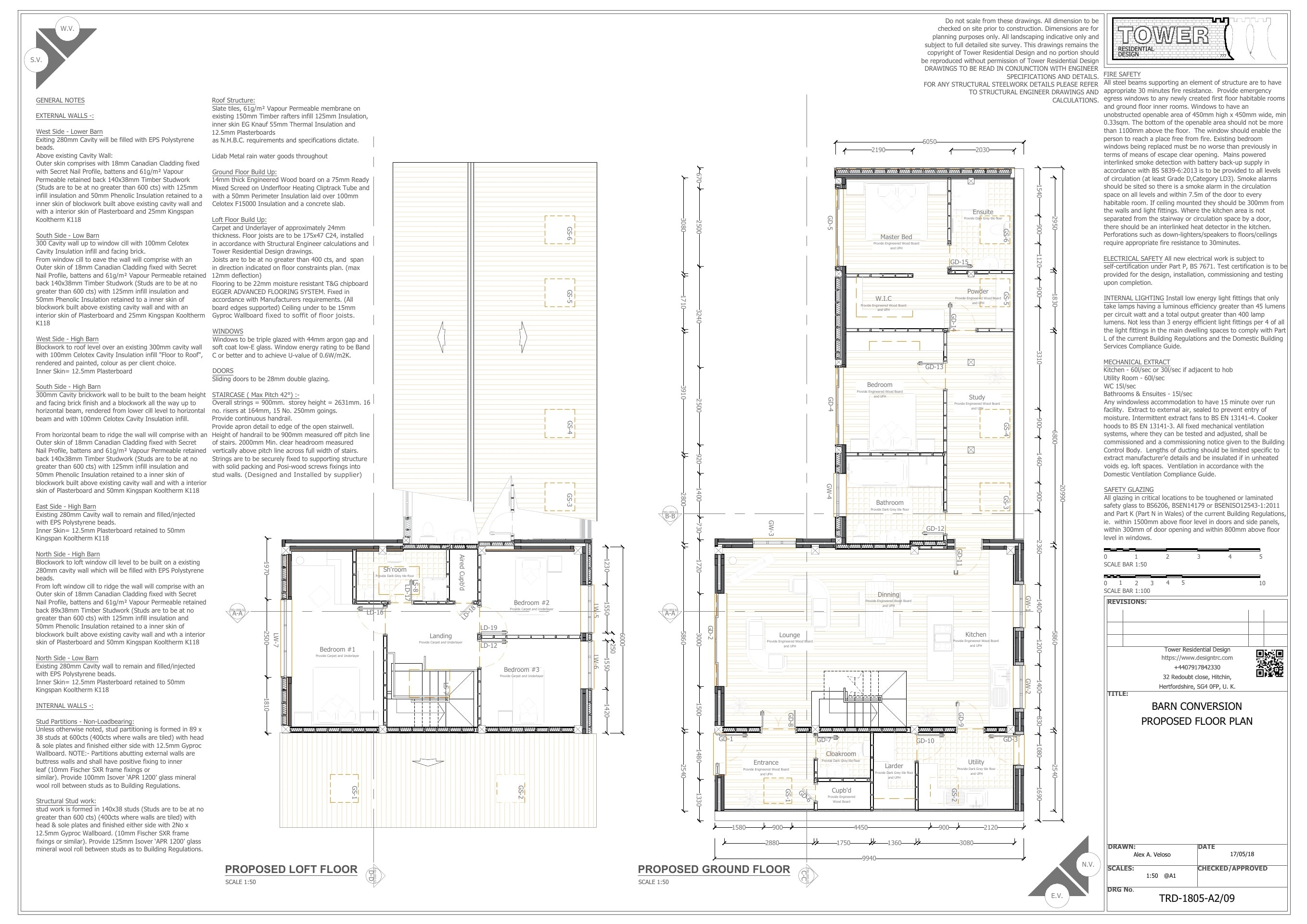 Building Regulation - Barn Conversion Elevations