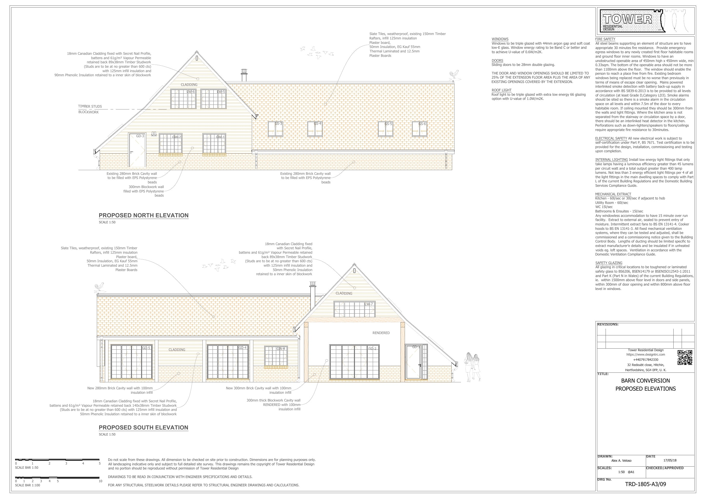 Buildign Regulation - Barn Conversion Cross Sections
