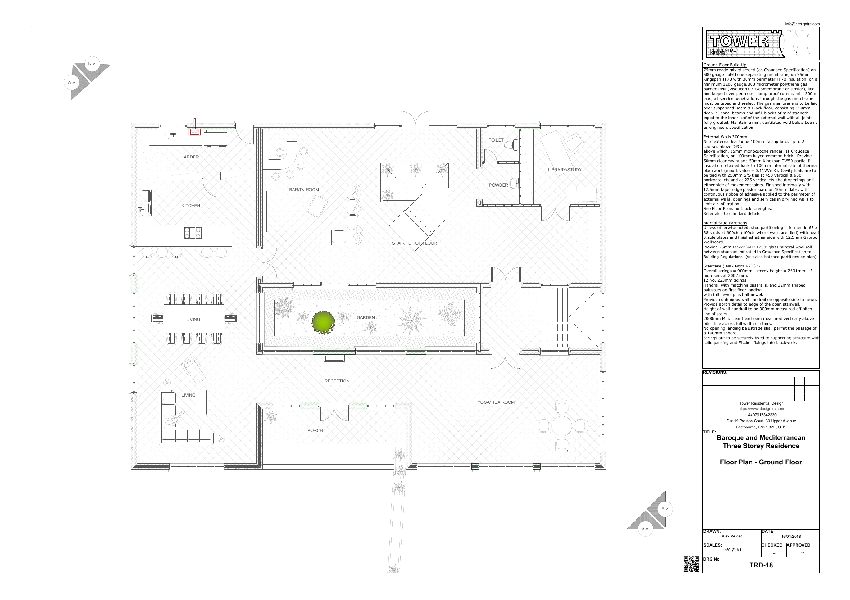 Baroque & Mediterranean- Ground Floor Plan