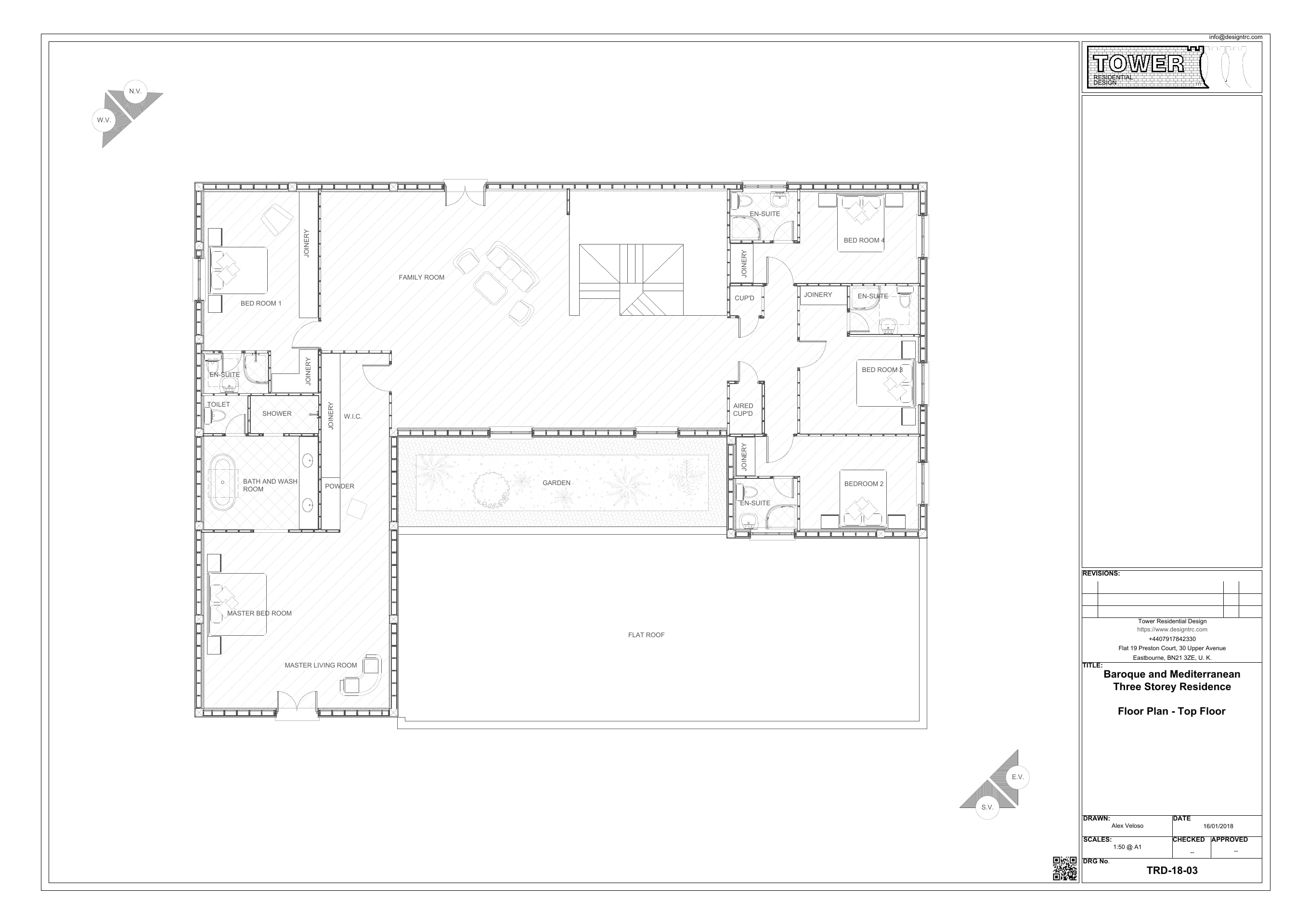 Baroque & Mediterranean- Upper Floor Plan