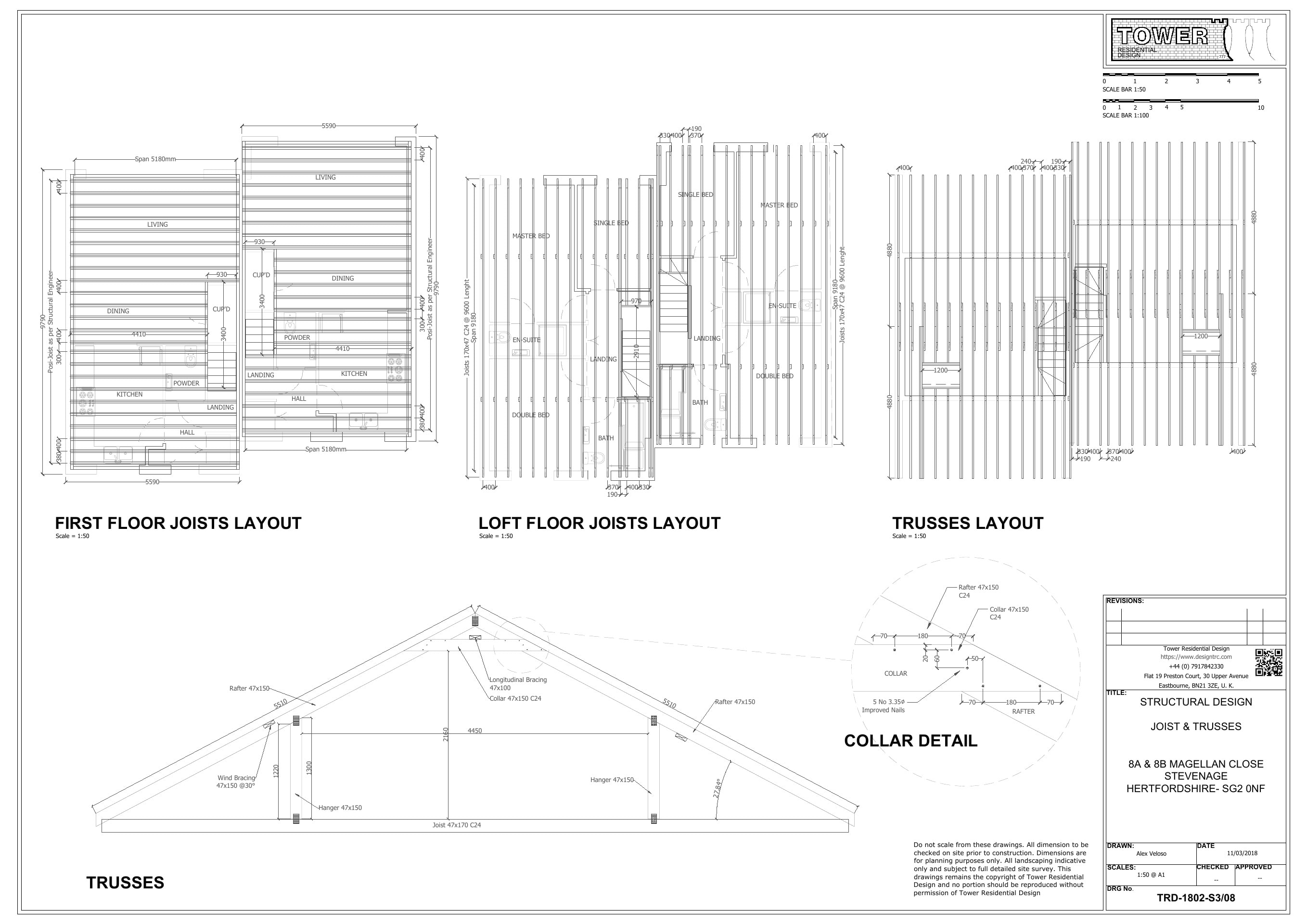 Building Regulations - Trusses and Joist Plan