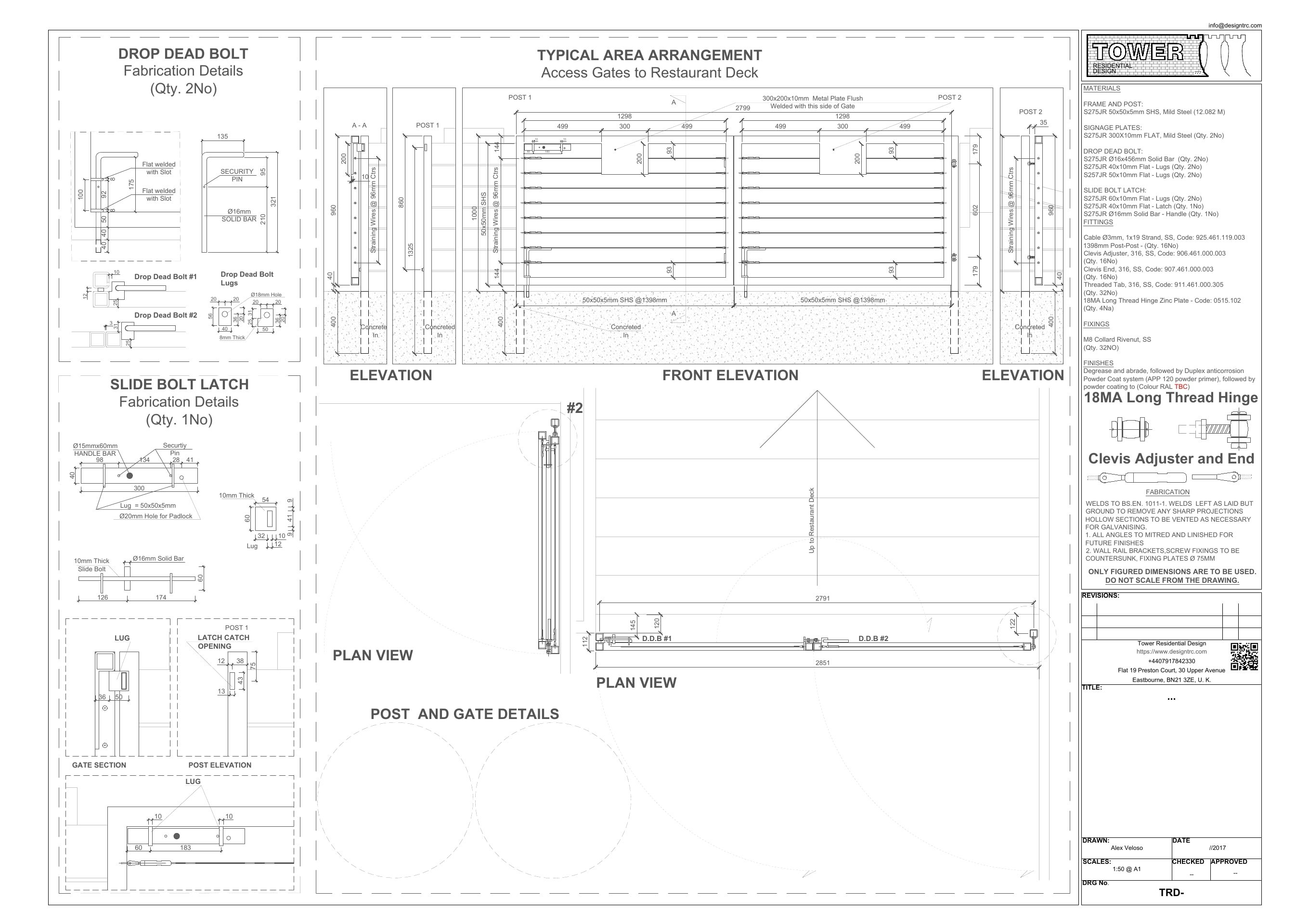 Gate Fabrication Drawings