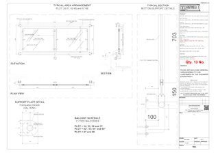 Juliet Balcony Fabrication Drawings