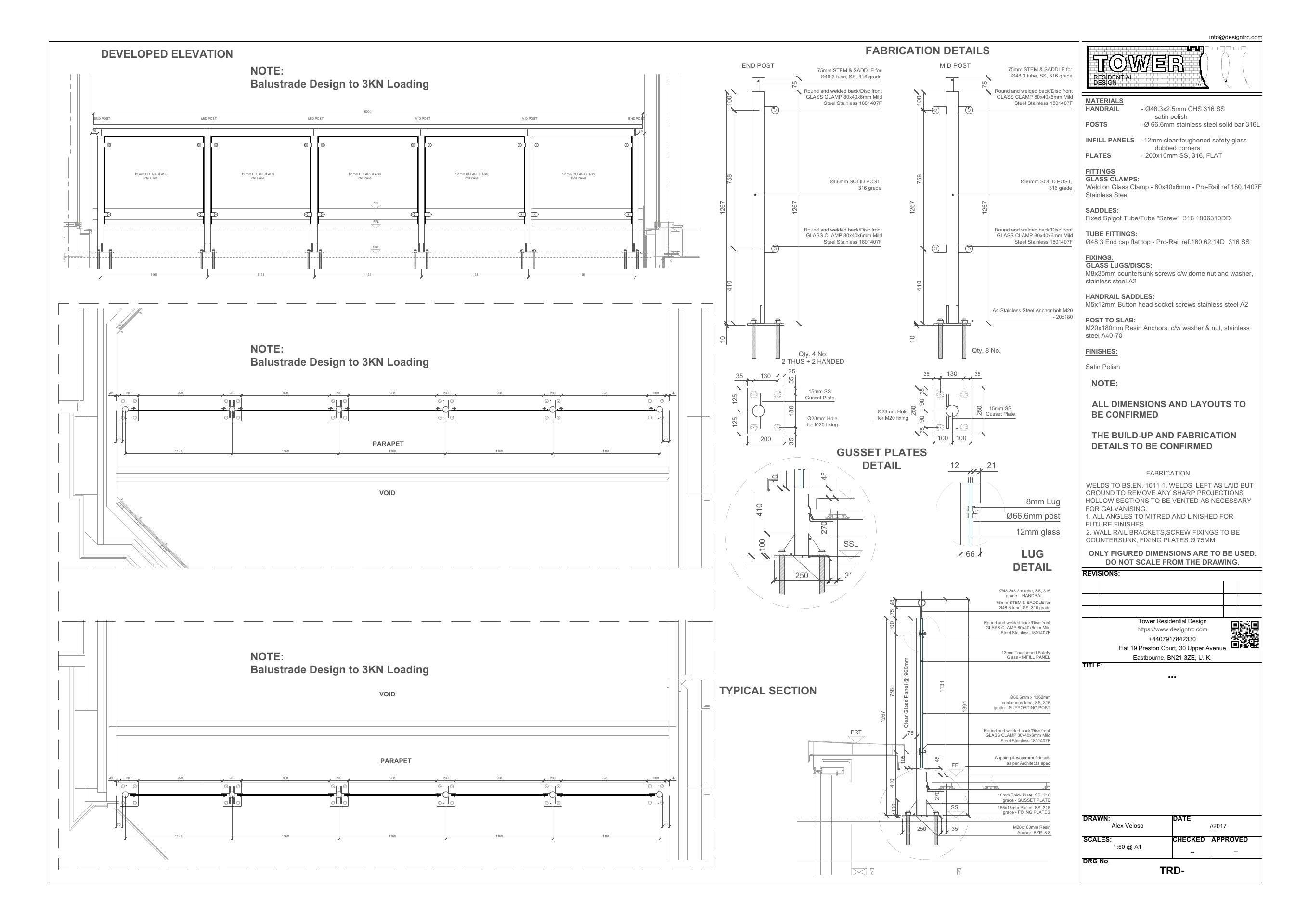 Balcony Fabrication Drawings