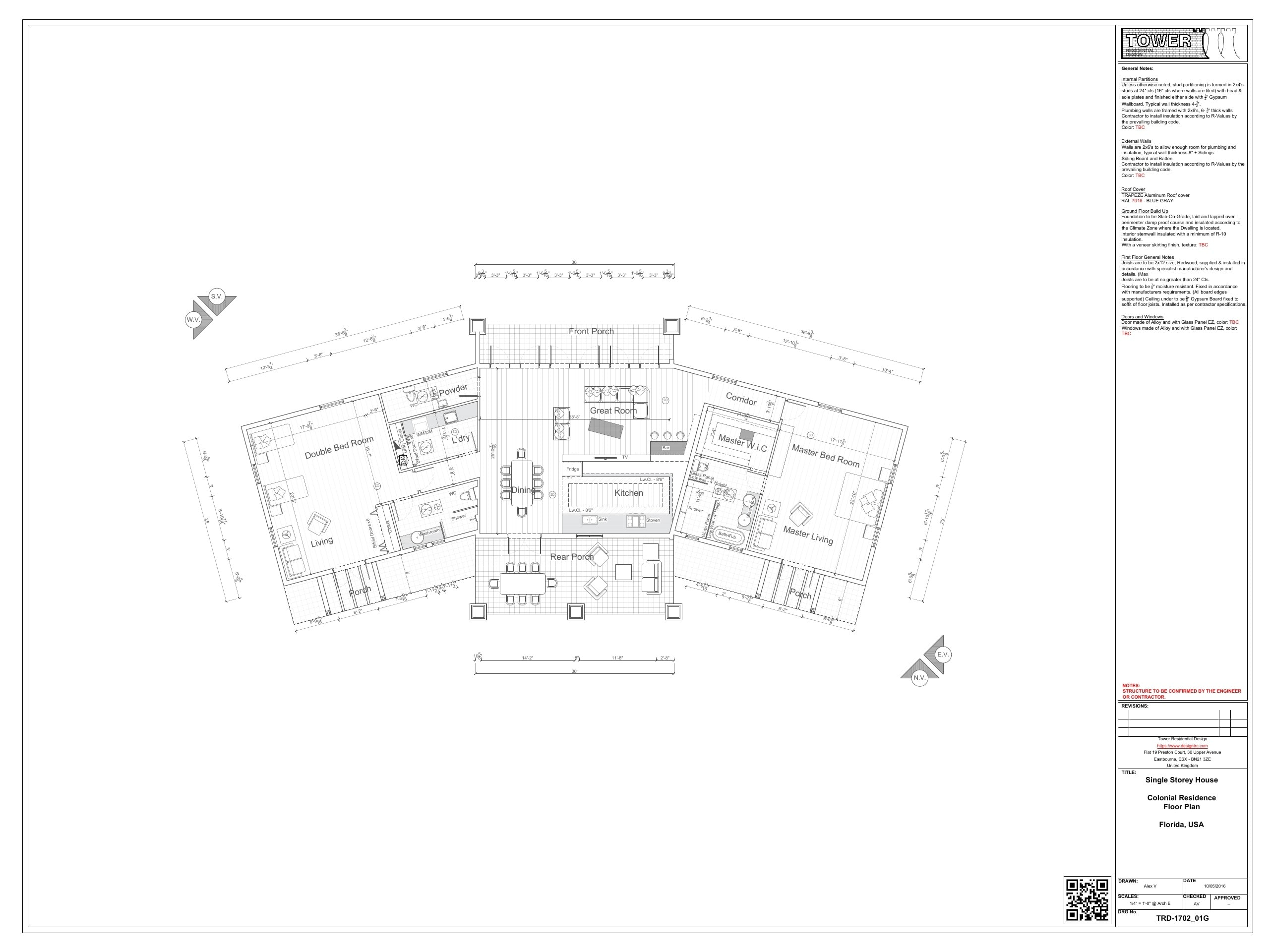 Colonial Architecture - Floor Plan