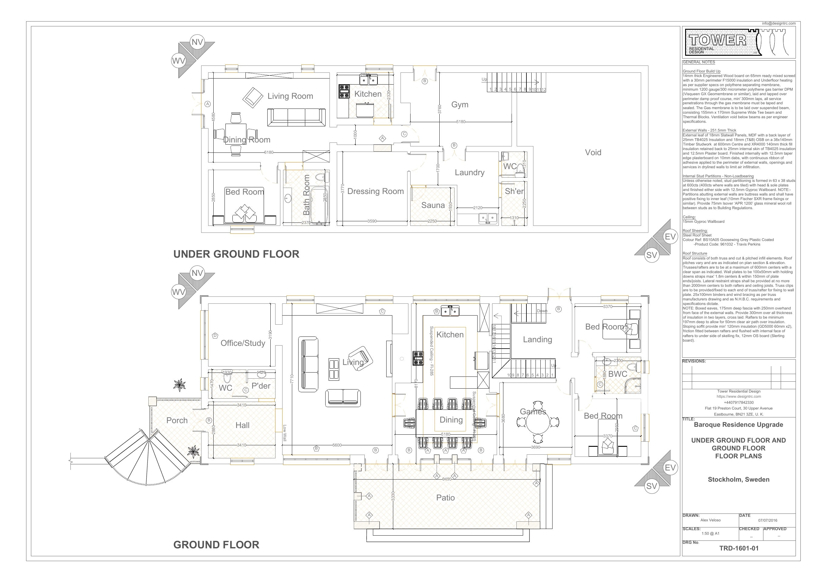 French Architecture - Floor Plan