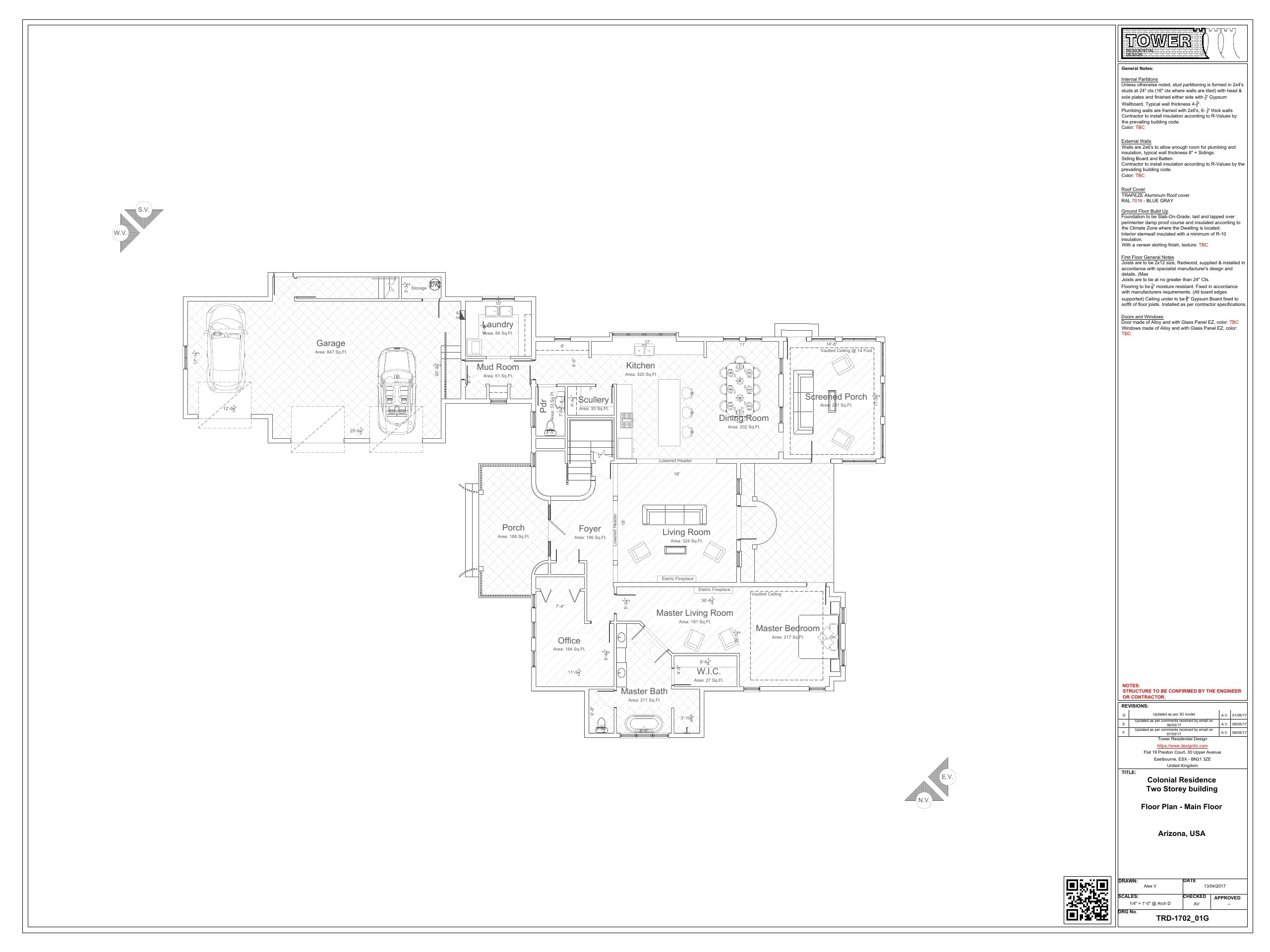 Contemporary/French Architecture - Ground Floor Plan