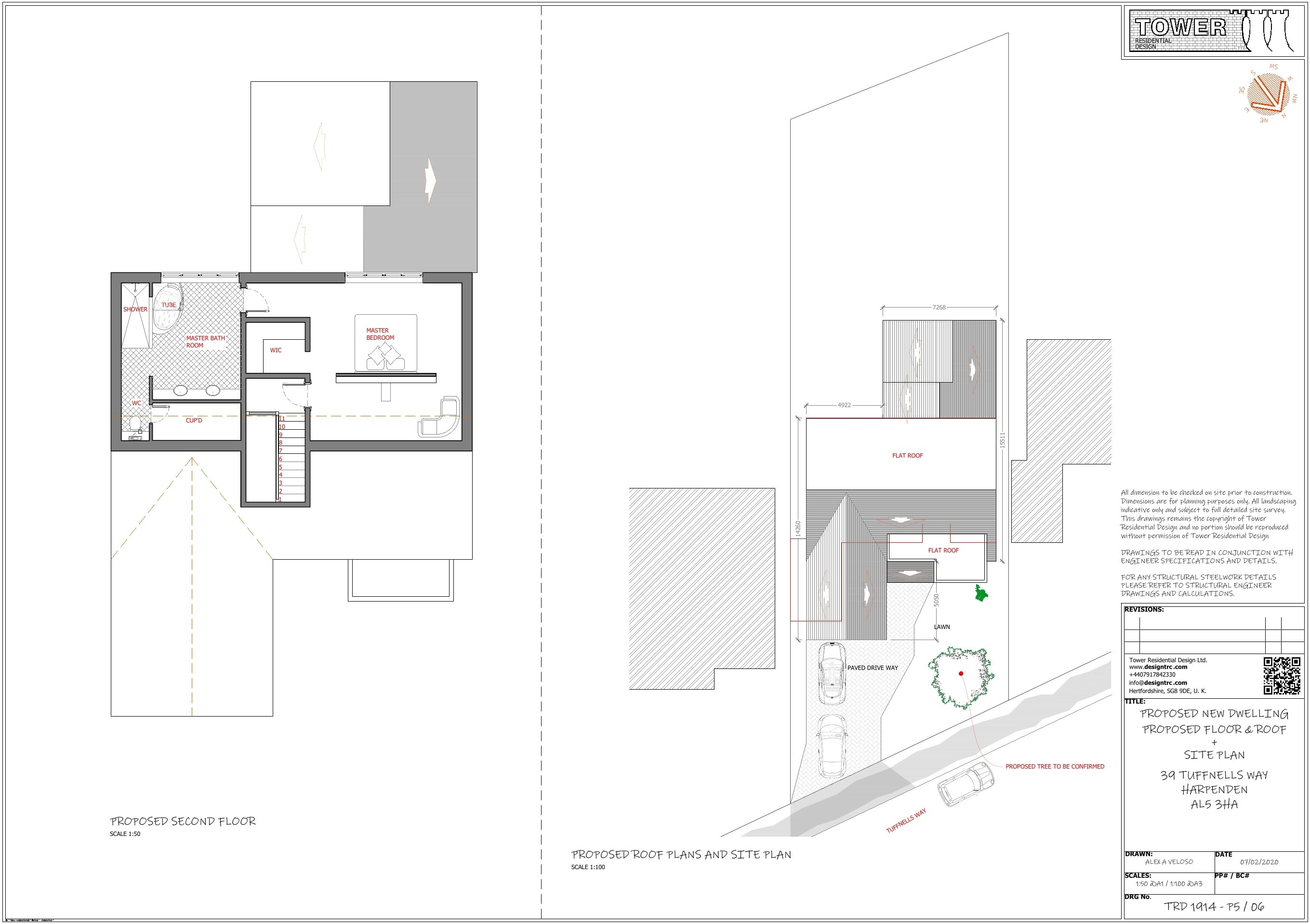 Architectural Plans for Planning Application - FF Floor